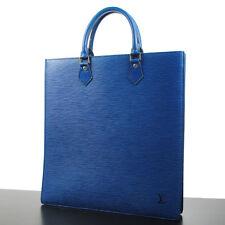AUTHENTIC LOUIS VUITTON SAC PLAT HAND TOTE BAG PURSE BLUE EPI M40897 RB4490s
