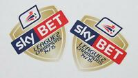 *14 / 15 - SKY BET FOOTBALL LEAGUE 2 CHAMPIONS / 2 x PRO-S ARM PATCHES = PLAYER*
