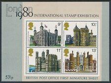 GB 1978 HISTORIC BUILDINGS MINISHEET FINE MINT MNH SG MS1058