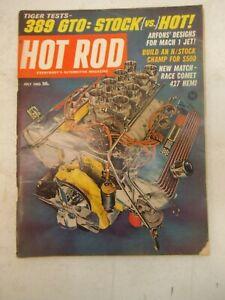 HOT ROD MAGAZINE JULY 1965 389 GTO RACE COMET 427 HEMI ARFONS MACH 1 JET DESIGNS