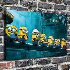 Minions at lunch Painting HD Print on Canvas Home Decor Wall Art Pictures