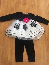 CashCash Cash Cash Baby Girl Outfit Black Size 18 Months Boutique Beautiful