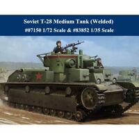 Trumpeter 07150 1/72 HobbyBoss 83852 1/35 Soviet T-28 Medium Tank (Welded) Model