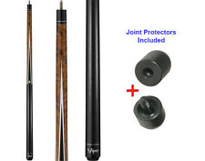 Viper Diamond 50-0910 Brown Stain Pool Cue Stick 18-21 oz & Joint Protectors