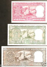 B.N.Adarkar India Gandhi Back Signature Set 2-5-10 @Unc Cond(B-10 / C-11 / D-13)