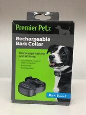 Premier Pets Rechargeable Bark Collar 8LB+ 6months+ Discourage Barking & Whining