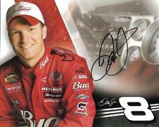 2007 Dale Earnhardt Jr Budweiser NASCAR Racing Signed Auto 8x10 Post Hero Card
