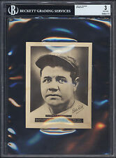 "1948-49 Leaf Premium ""Baseball's Immortals"" Babe Ruth BVG 3 Strong visual appeal"