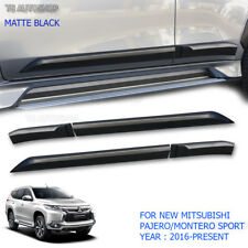 Mitsubishi Pajero Montero Sport 2016 Matte Black Side Door Body Molding Cladding