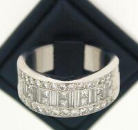 Platinum Half Eternity Diamond Ring size P 2.60 carats approx stunning!