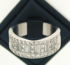 Platinum Half Eternity Diamond Ring size P 2.60 carats approx stunning!