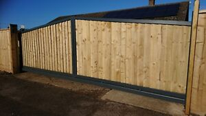 Sliding cantilever driveway gates  automated NICE Robus
