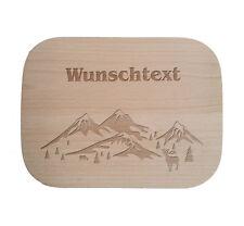 Frühstücksbrettchen nach Wunsch / Holz / Buche / Landschaften