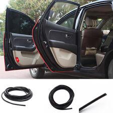 Black 5M U-Shape PVC Car Truck Van Door Edge Guard Trim Protector Molding Strip