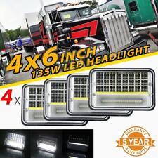 "4x 4x6"" 4x5Inch 135W LED Headlight DRL Beam For Peterbilt Kenworth Freightliner"
