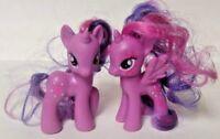 2 Difrnt Twilight Sparkle My Little Pony G4 FIM Brushable Rare MLP Friendship