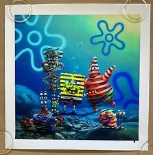 Super-A Spongebob Atlantis Squarepantis  Print Nickelodeon LE X/150 ** IN HAND