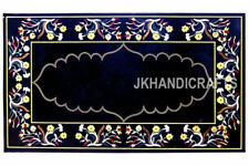 India Cottage Crafts Inlay Art Dining Table Top For Royal Home 30'' x 48''