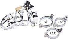 Male big sale metal male chastity belt device dick cage cock lock