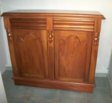 sideboard cupboard antique cedar chiffonier with drawers shield panels VGC rare