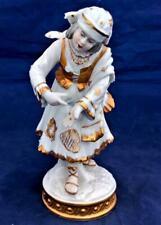Aelteste Volkstedt Rudolstadt Porcelain Girl Street Entertainer Figurine V20773