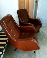 Mid century Pair Lounge chairs by Aldo Morbelli ISA Bergamo Gio Ponti italy 50s