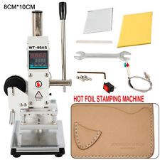 Manual Digital Hot Foil Stamping Machine PVC Card Leather Bronzing 300W 110V TOP