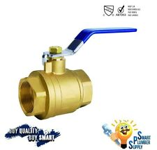 Female Threaded Shut Off Ball Valve 1 inch full port (000-1) - Lead Free