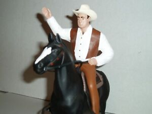 CUSTOM HARTLAND WESTERN  HOSS CARTWRIGHT WITH HORSE  BONANZA