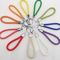 Portable Gifts Car Keychain PU Leather Key Ring Keyfob