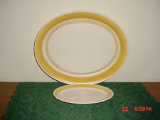 "2-PIECE FRANCISCAN ""HACIENDA GOLD"" LRG 13 7/8"" OVAL PLATTER & DISH/EARTHENWARE!"