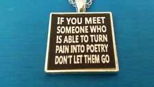 BDSM JEWELRY COLLAR NECKLACE Someone who turns pain into poetry dont let them go
