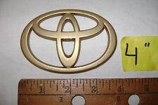 "Toyota gold plastic oval emblem sticker camry 4"" wide hybrid no stud corolla"