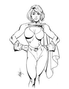 Power Girl Original Art by MC Wyman 11x14