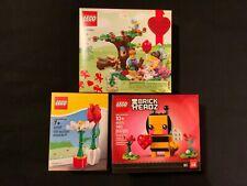 NEW LEGO BRICKHEADZ  VALENTINE BEE PICNIC FLOWER ROSE  40270 40187 40236
