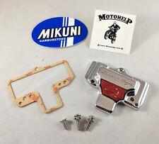 Genuine Mikuni HSR 42,  HSR 45 Screamin Eagle Polished Carburetor Top