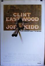 Joe Kidd 1972 original poster linen-backed Clint Eastwood Cowboy Western 27 x 4