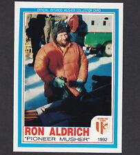 Iditarod Dogsled Race Ron Aldrich Alaska AUTOGRAPH Signed 1992 Dog Musher Card