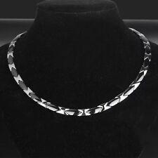 Black Ceramic Titanium Steel Magnetic Therapy Necklace for Neck Arthritis Men