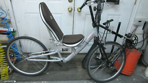 "Cruzbike Softrider 26"" recumbent bicycle USED"