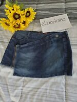G by Guess Denim Mini Skirt for Womens, size Medium, Dark Blue Stretch, Preowned