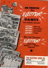 1951 PAPER AD Belle Dolls Vintlite Babies Jim Prentiss Electric Games Bunny Run