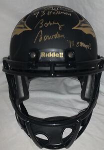 Bobby Bowden Charlie Ward Signed Amp Eclipse Full Size Helmet PROOF JSA Inscribe