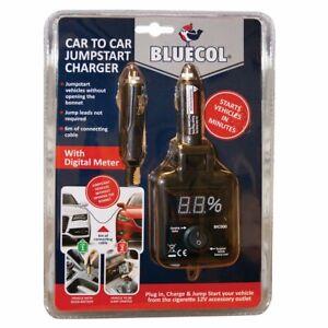 Bluecol Car To Car Charger 12v Jump Starter Cables BIC000 - Emergency UK SELLER