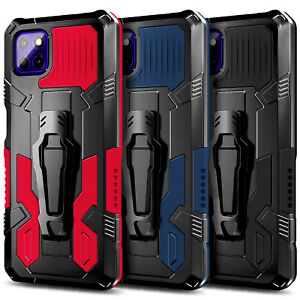 Case For Motorola Moto G9 Power Shockproof Belt Clip Stand Cover +Tempered Glass