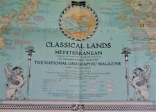NATIONAL GEOGRAPHIC CLASSICAL LANDS OF THE MEDITERRANEAN MAP EUROPE 1940 WWII