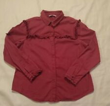 Tu Woman Red Long Sleeve Shirt Size 16