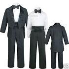 Infant Toddler Kid Teen Boy Wedding Tail Formal Tuxedo Suit Black size: S to 20