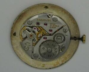 ***Vintage Marvin Chronometer Mens Watch Movement & Dial, Cal. 515***