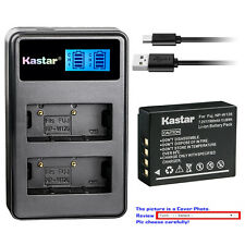 Kastar Battery LCD Dual Charger for Fujifilm NP-W126 NP-W126s Fuji X-PRO2 Camera